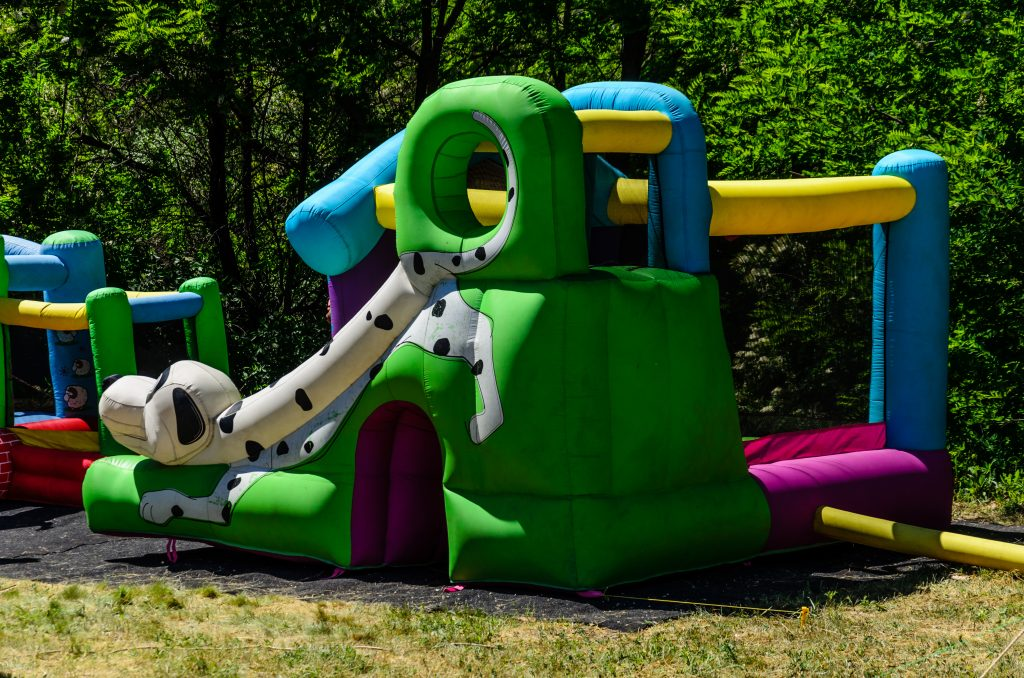 fun bounce house rental at rochester mi school event